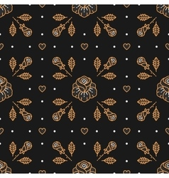 Floral pattern seamless rhombus cell backdrop vector image