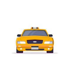 Front view of taxi car vector