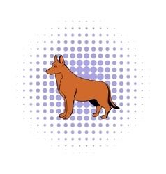 German Shepherd dog icon comics style vector