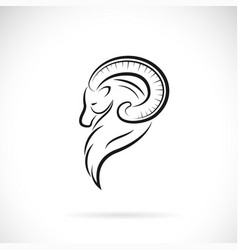 goat head design on white background easy vector image