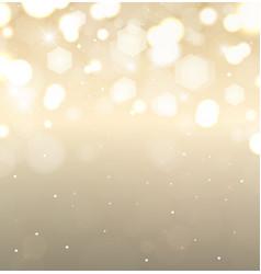 Golden holiday background flickering lights vector