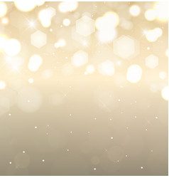 golden holiday background flickering lights with vector image