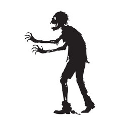 Graphic side zombie walking vector