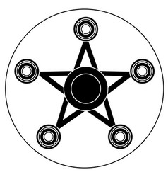 Hand spinner in the form of a star vector