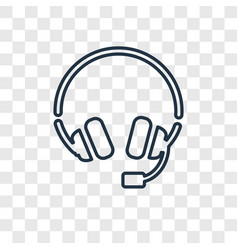 headset concept linear icon isolated on vector image