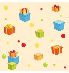 Holiday background with boxes with gifts vector