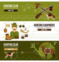 Hunting Horizontal Banners vector image