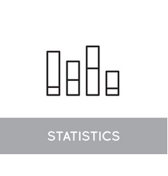 icon bar chart single simple graphic vector image