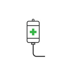 intravenous icon design template isolated vector image