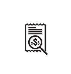 Invoice line icon payment money dollar bill vector