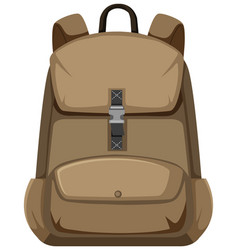 Isolated backpack on white background vector