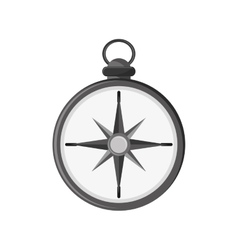 Isolated compass instrument design vector image vector image