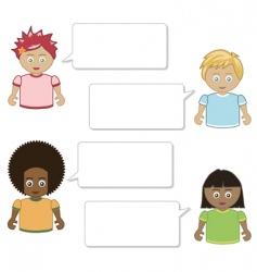 kids speech vector image