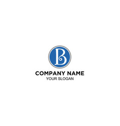 letter b in circle logo images vector image