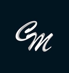 letter cm brand luxury business logo design vector image