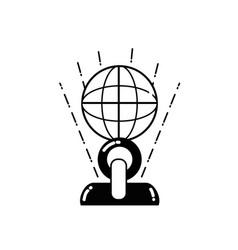 line prize object symbol of champion winner vector image