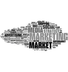 market word cloud concept vector image
