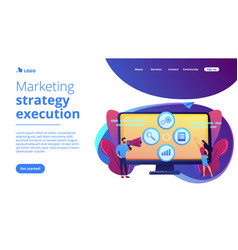 Marketing campaign management concept landing page vector