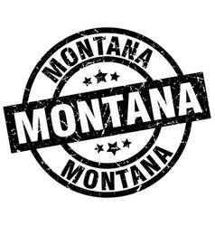 Montana black round grunge stamp vector