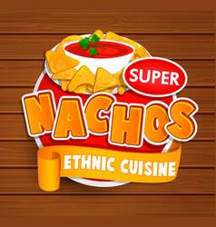 nachos ethnic cuisine logo vector image