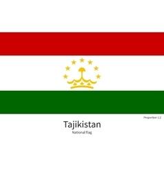 National flag of tajikistan with correct vector
