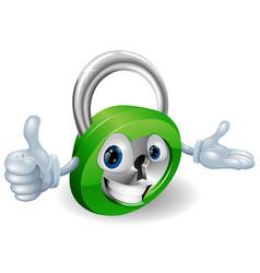 Padlock mascot vector