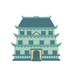 Pagoda traditional japanese chinese asian vector