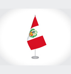 Peru flag on white background vector