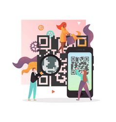 qr code concept for web banner website vector image