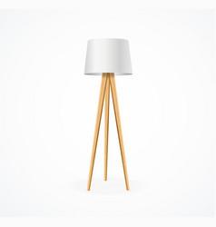 realistic detailed 3d vintage floor lamp vector image