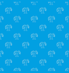 robot octopus pattern seamless blue vector image