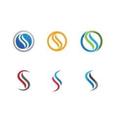 s letter logo icon design template vector image