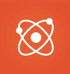 science icon science design isolated on orange vector image