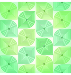 Seamless background with stylized green leaves vector image