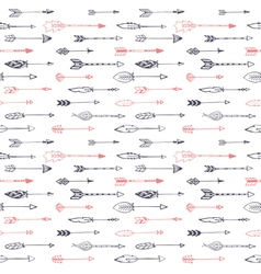 Seamless ethnic pattern with arrows Hand drawn set vector