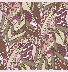 seamless feather pattern in abstract ornament vector image