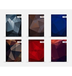set of polygonal covers vector image