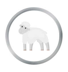 Sheep icon cartoon Single bio eco organic vector image