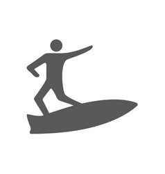 surfing icon design template isolated vector image