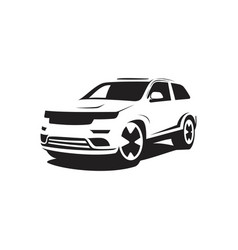 suv car silhouette vector image