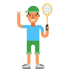 Tennis player with racket vector image