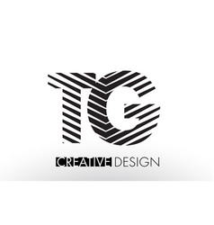 Tg t g lines letter design with creative elegant vector