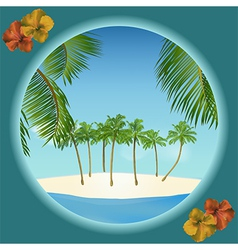 tropical island border vector image