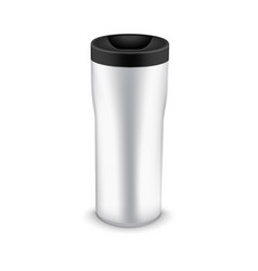 Tumbler bottle mug for travel thermo water cup vector