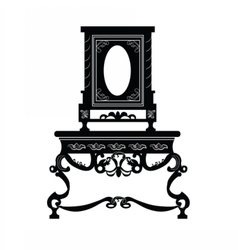 Vintage baroque luxury furniture vector image