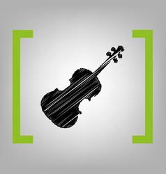 violine sign black scribble vector image