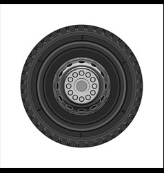 wheel of car vector image