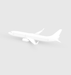 white paper cut art airliner vector image