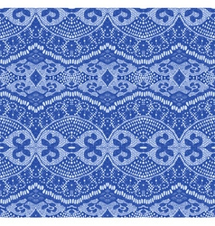 blue seamless lace vector image vector image