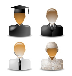 Icons occupations vector image vector image